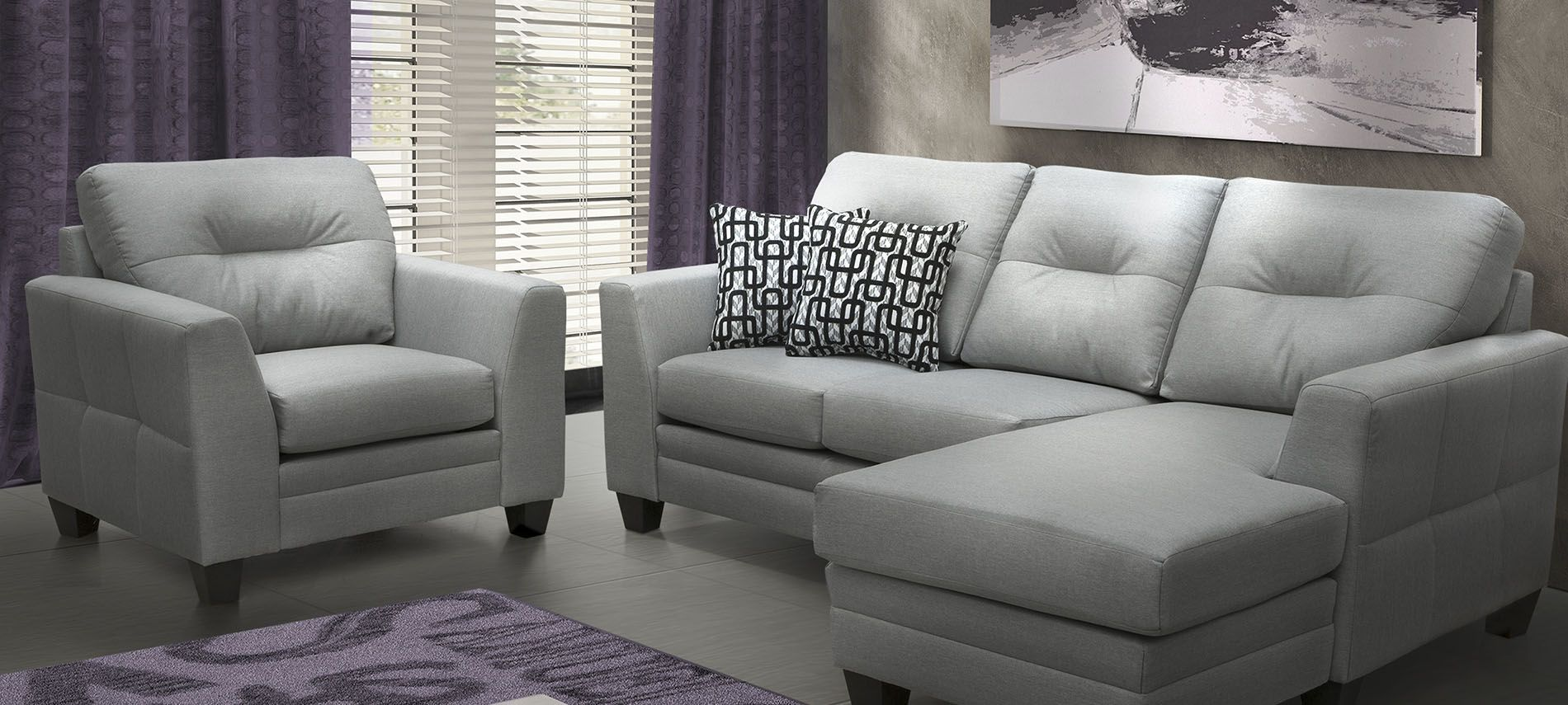 Calgary sofa collection made in canada meubles belisle for Meuble belisle sectionnel